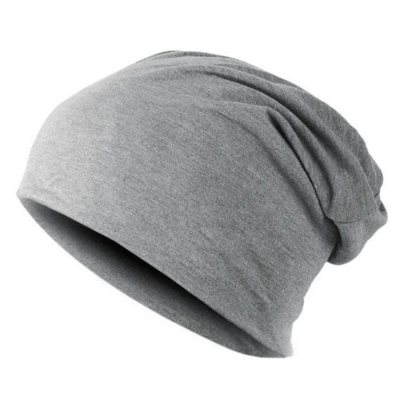 Dámská Pánská čepice – šedá – LOOKeshop c951ca9ce1