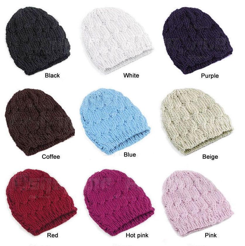 Dětská dámská pletená čepice – fialová – LOOKeshop 28d06502e7